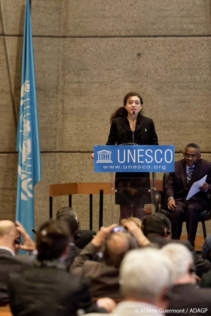 milene at unesco by john dudley